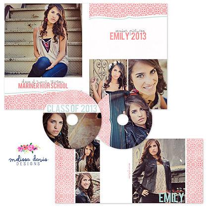 EMILY CD & DVD CASE PHOTOSHOP TEMPLATES
