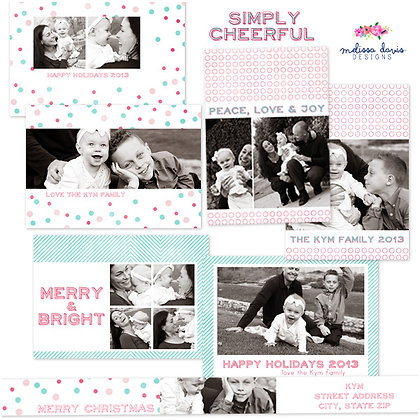 SIMPLY CHEERFUL PHOTSHOP TEMPLATES