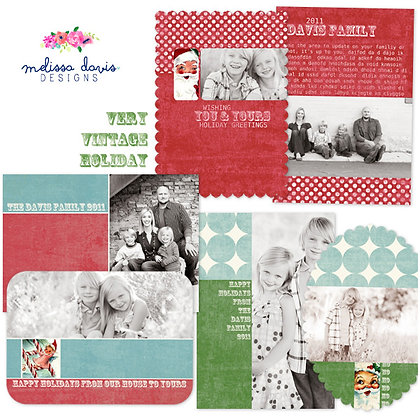 VERY VINTAGE HOLIDAY PHOTOSHOP TEMPLATES
