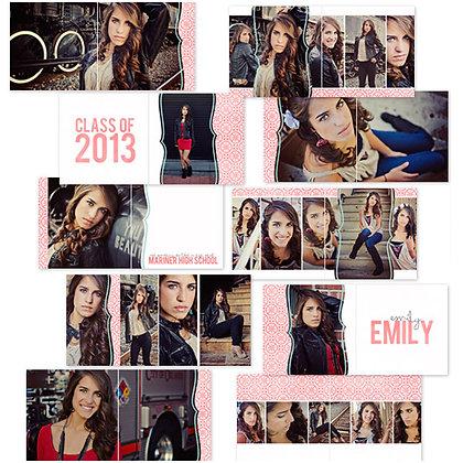 EMILY ALBUM 40 PAGE PHOTOSHOP TEMPLATES