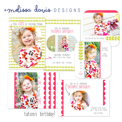 TATUM'S BIRTHDAY PHOTOSHOP TEMPLATES