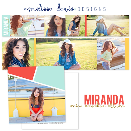 MIRANDA 3x3 ACCORDION ALBUM PHOTOSHOP TEMPLATE