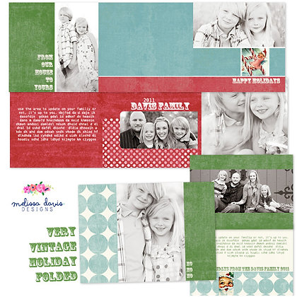 VERY VINTAGE HOLIDAY FOLDED DIGITAL PAPER PACK