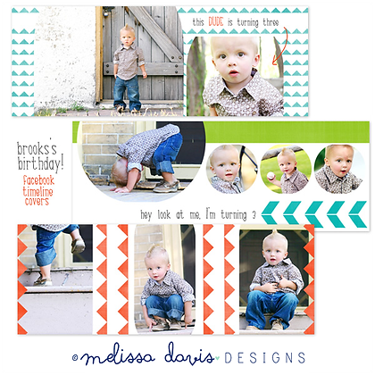 BROOKS'S BIRTHDAY FACEBOOK COVER PHOTOSHOP TEMPLATES