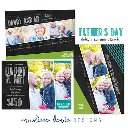 DADDY & ME MINI SESSION BOARDS PHOTOSHOP TEMPLATES