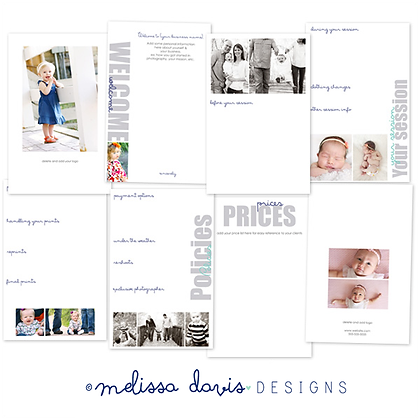 WELCOME PACKET PHOTOSHOP TEMPLATES