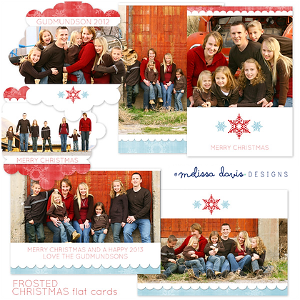 FROSTED CHRISTMAS PHOTOSHOP TEMPLATES