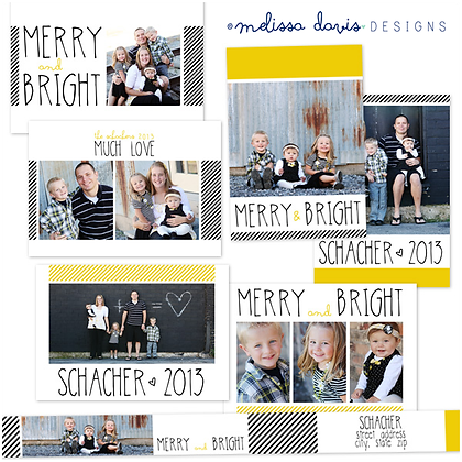 MERRY AND BRIGHT PHOTOSHOP TEMPLATES