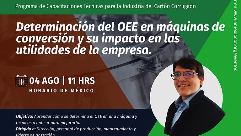 Determinación del OEE en máquinas de conversión y su impacto en las utilidades de la empresa. Descripción AMS