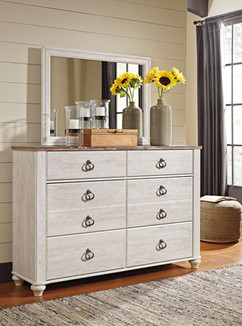 Ashley B267-31/36 Willowton Series Bedroom Dresser/Mirror