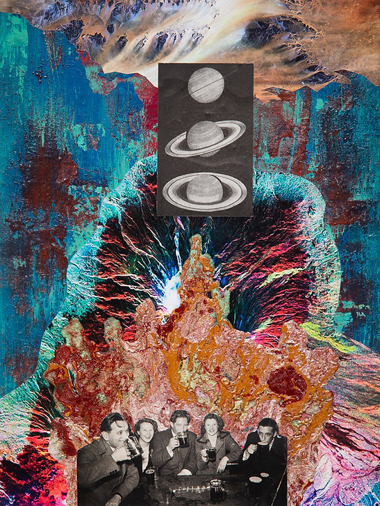 Saturnalia, Dan Burman, collage, found photographs, mixed media
