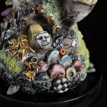porcelain, sculpture dreamscape art, fantasy, surreal, Bev Milward
