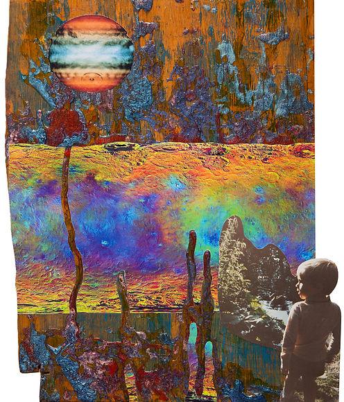Dreamscape, collage, Dan Burman, old photographs, mixed media