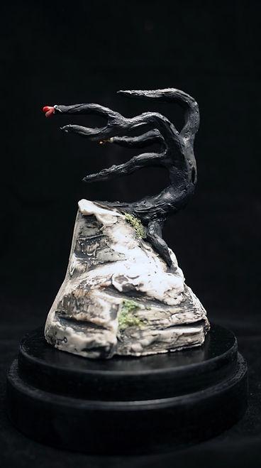 Heart, Tree, Love endures, sculpture, porcelain