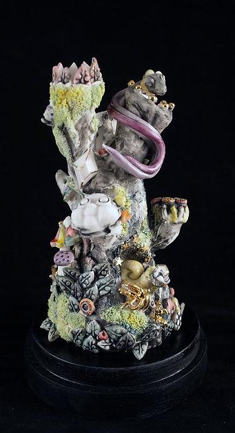 porcelain, sculpture, surreal, dreamscape, ceramic