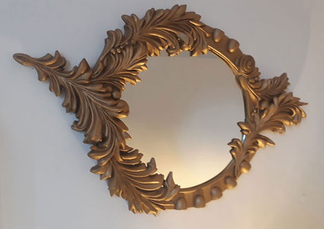 mirror, baroque, gold, frame, bev milward