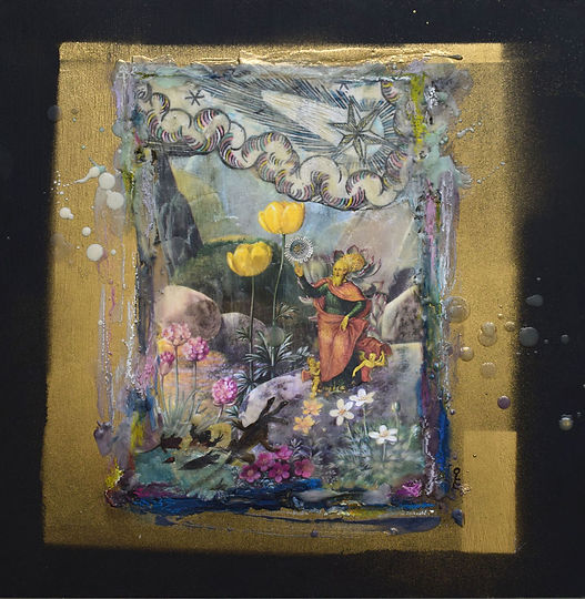 creation, wax, encaustic, collage, St Francis, Bosche, natural history, bev milward
