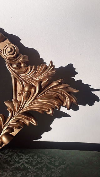 gold, baroque, frame, mirror, contemporary, bev milward