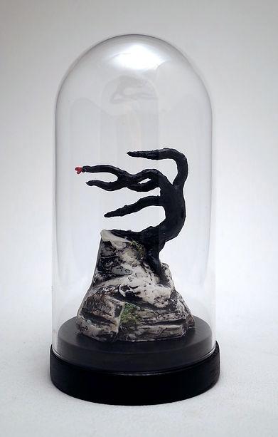Heart, tree, porcelain, sculpture