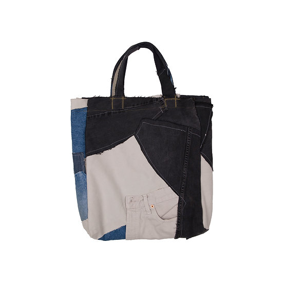 Patchwork vinyl bag