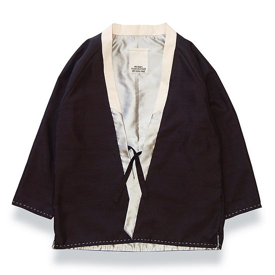 Shantung reversible kimono