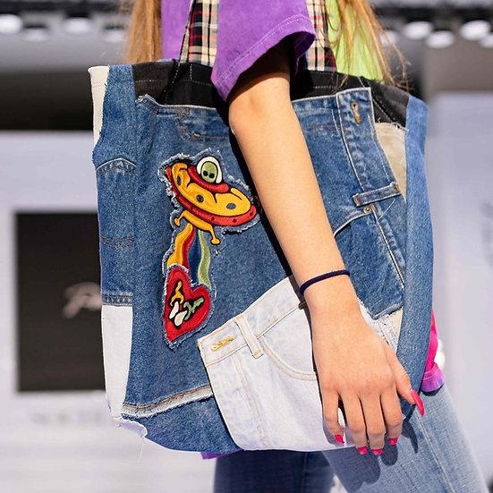 Upcycled shopper bag