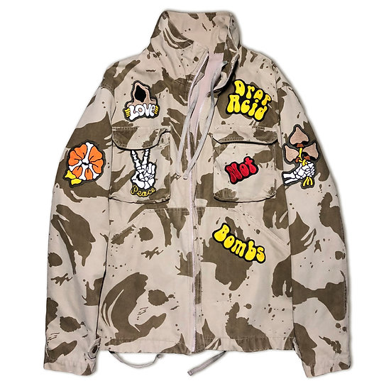 Chainstitched military jacket