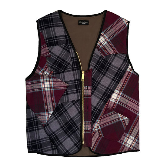 Upcycle patchwork vest