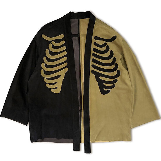 Suede Kimono Shirt