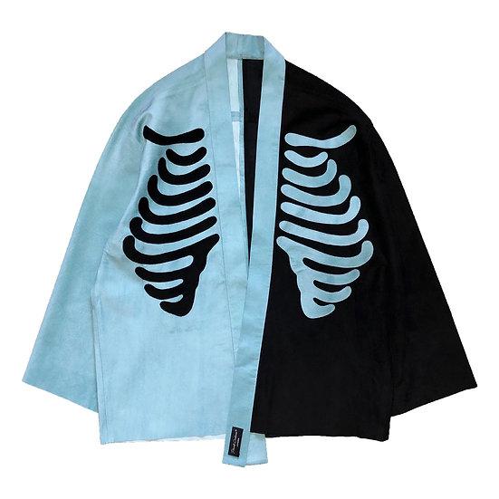 Ribcage suede kimono