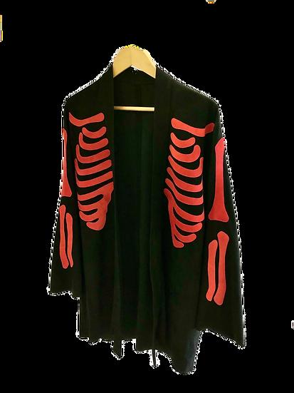Suede kimono