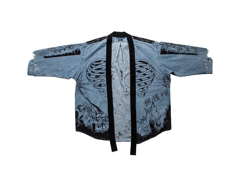 Ukiyo-e Denim Kimono
