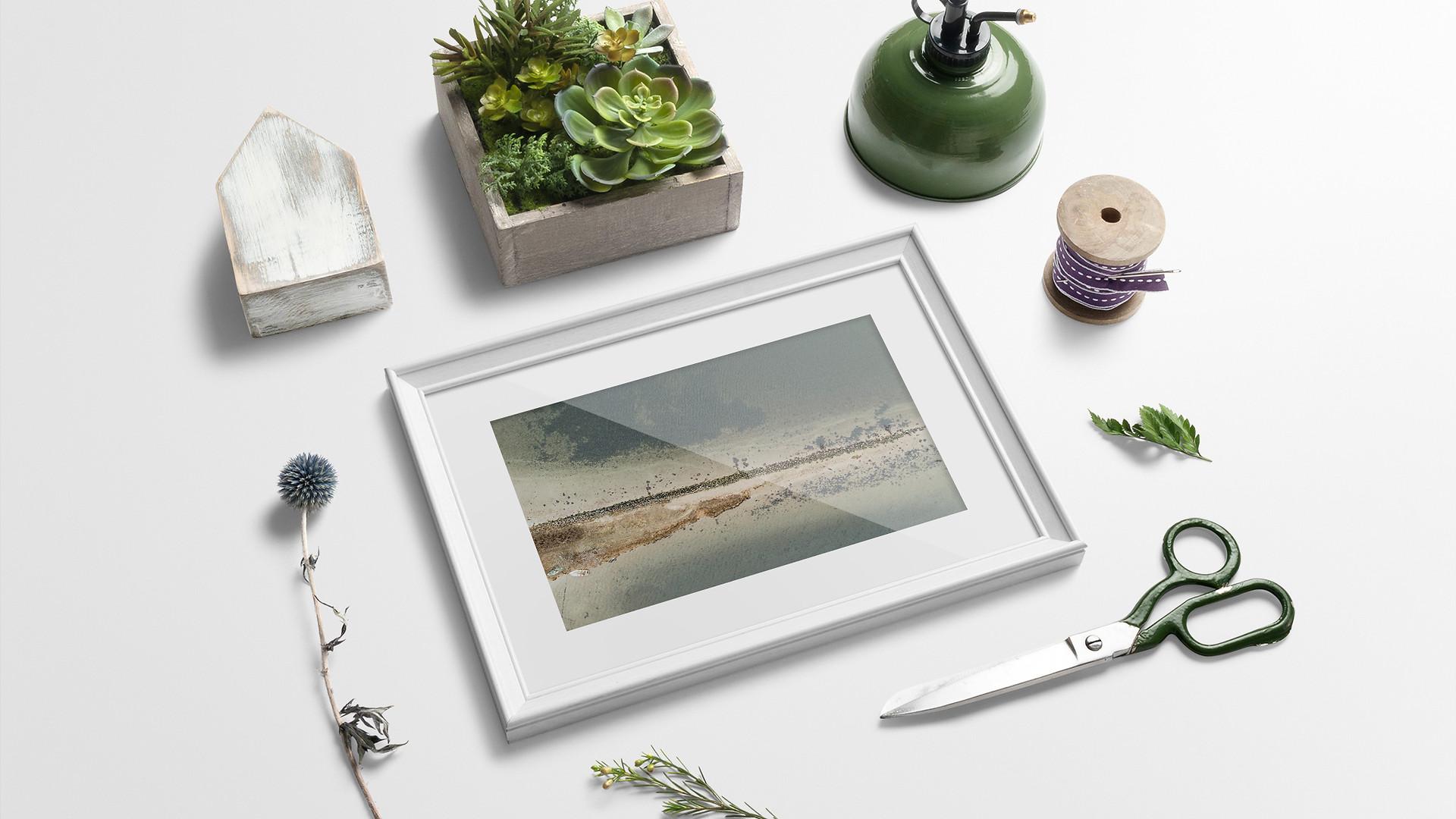 Houens Odde Dronefoto plakat til gave