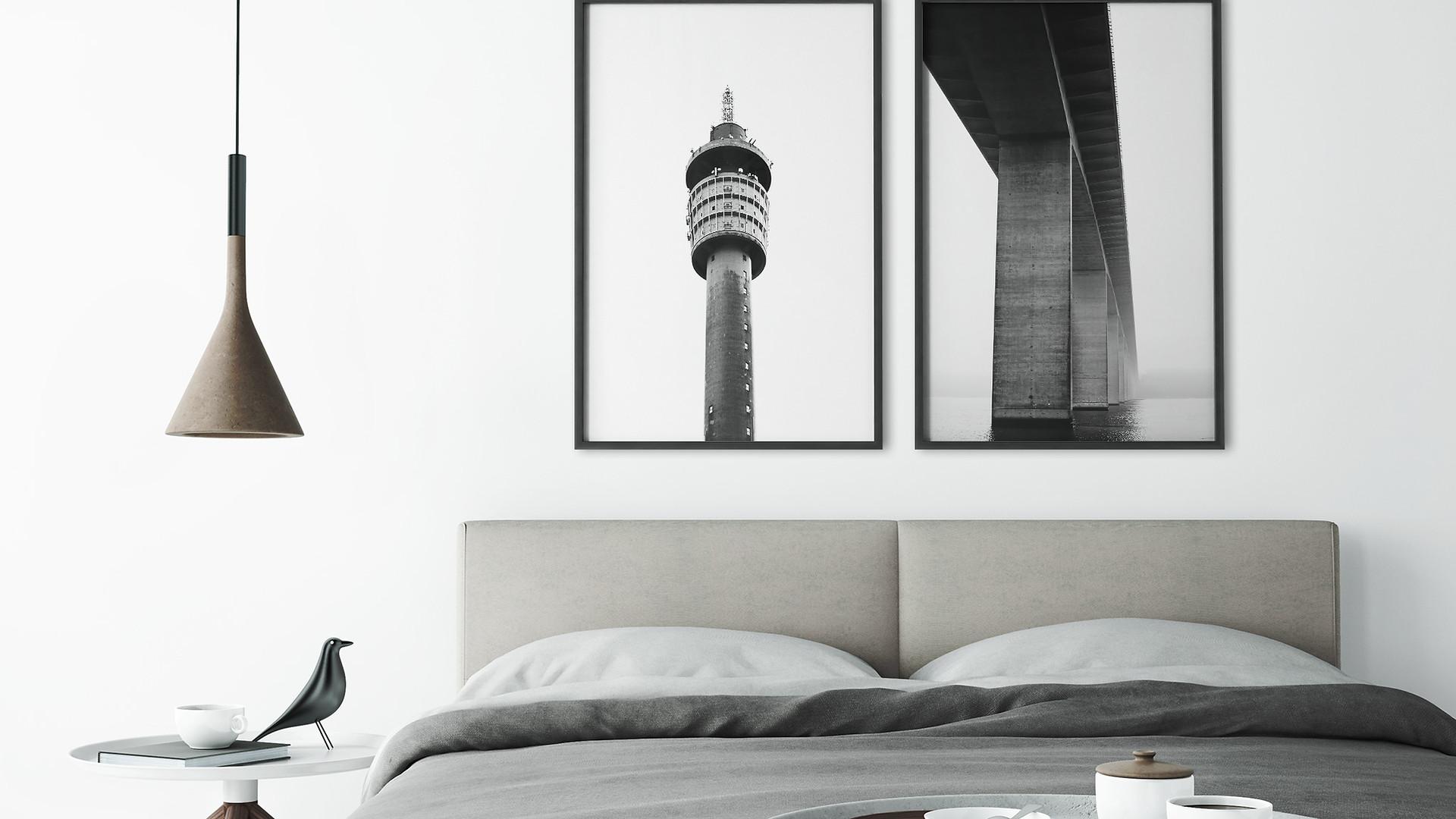højen tårnet & vejlefjordbroen plakat til soveværelset