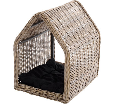 Artisanti, Toba Rattan Dog Kennel, £225,