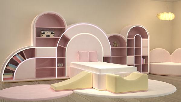 (c) Circu Bedroom with Bubble Gum Collec