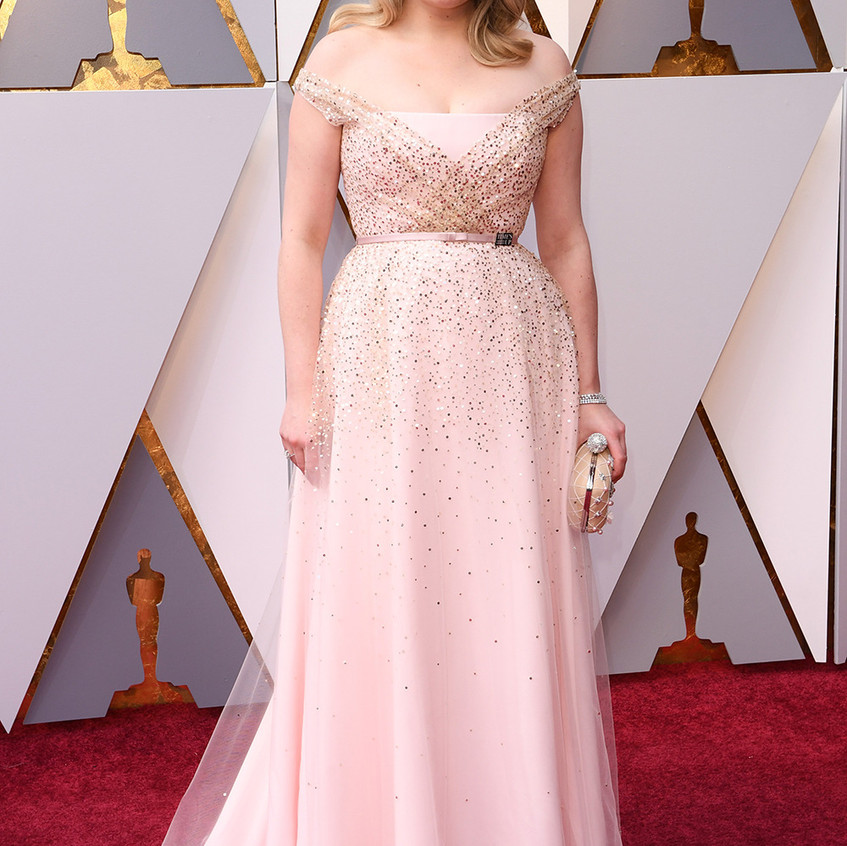 Elisabeth Moss en Dior Haute Couture