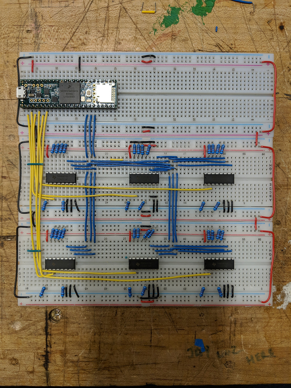 Final board - A Teensy 3.6 and 6 8-Channel multiplexers