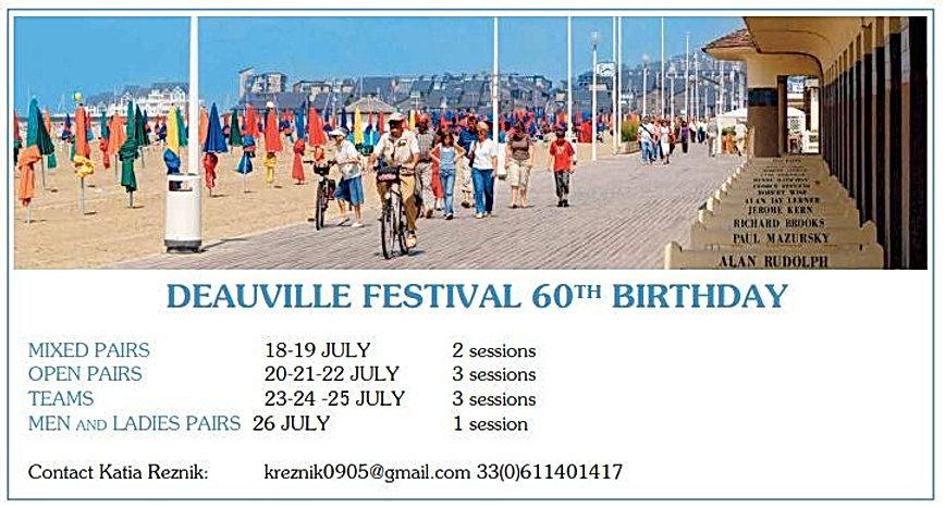 international bridge festival mondial deauville