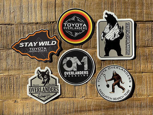 """Toyota Overlanders 3"""" Decal Pack"""