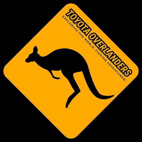"""Kangaroo Toyota Overlanders 4"""" Decal"""