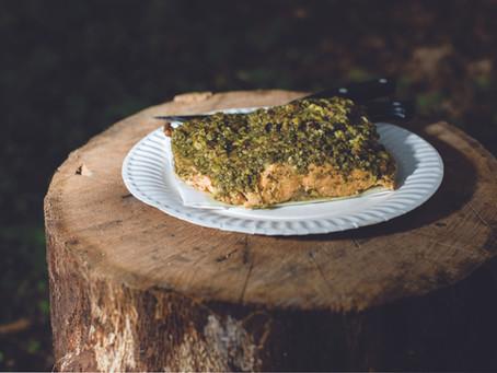 Pesto Pistachio Encrusted Salmon