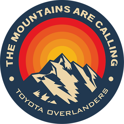 "The Mountains Are Calling - 3"" Decal"