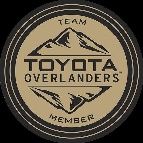 "Team Toyota Overlanders 4"" Decal"