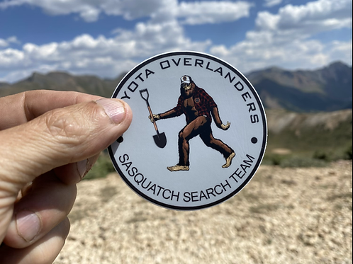Sasquatch Search Team sticker