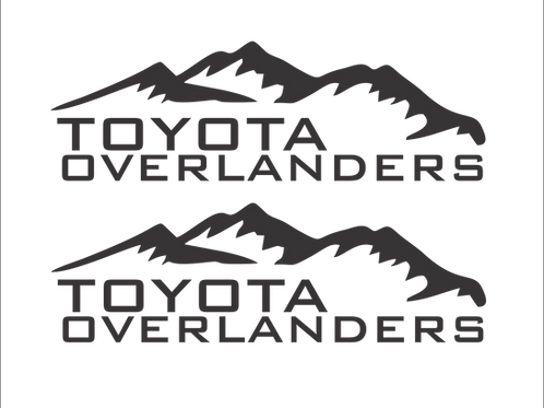 Toyota Overlanders Rear Decal Set