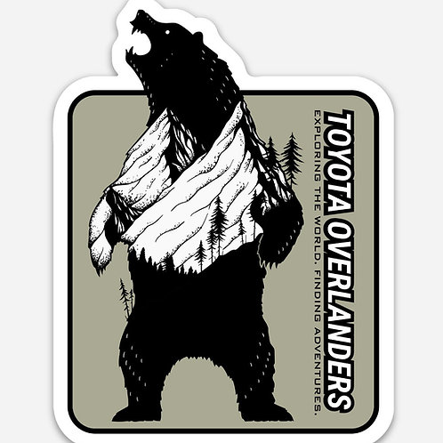 "Overlander Grizzly 3"" Decal"
