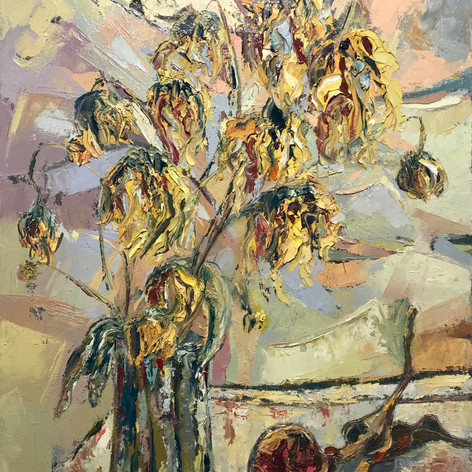 Old flowers & Pomegranate