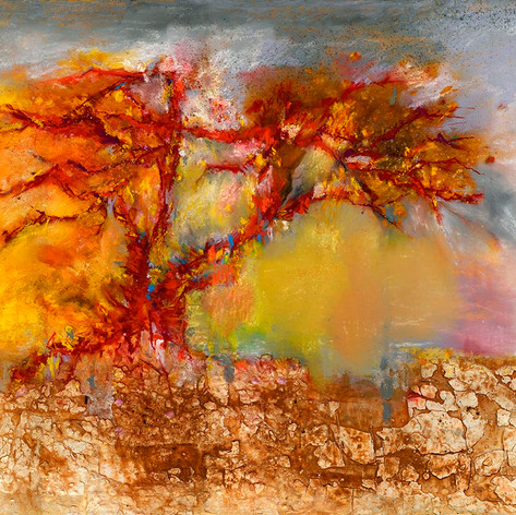 Abstract Red Tree - SOLD