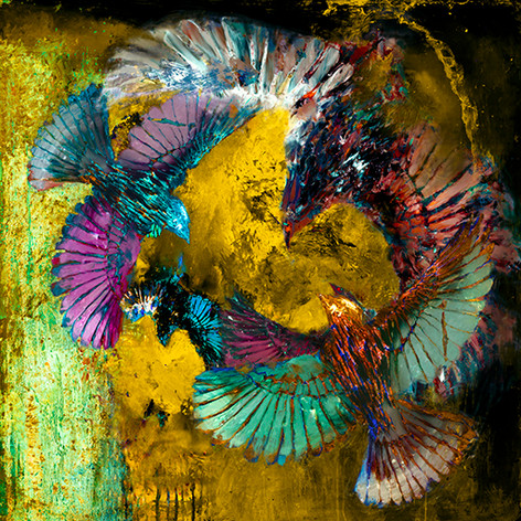 Birds in Flight - Yellow